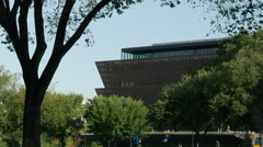 African American Museum ws pan Stock Footage