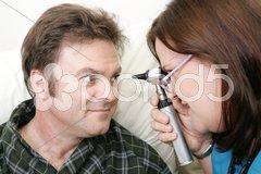 Medical Exam - Eyes Stock Photos