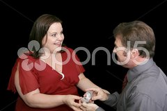 On Bended Knee Stock Photos