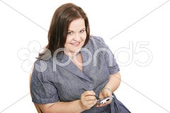 Plus Sized Businesswoman with PDA Stock Photos
