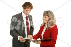 Mentoring Series - Discussing Reports Stock Photos