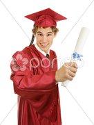 Graduate with Diploma Stock Photos