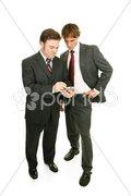 Mentor Series - Businessmen & PDA Stock Photos