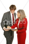 Mentor Series - Poor Performance Review Stock Photos