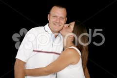 Expectant Couple in Love Stock Photos