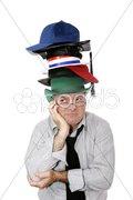 Too Many Hats Stock Photos