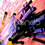 Purple straws Stock Photos