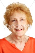 Red Haired Senior - Hopeful Stock Photos