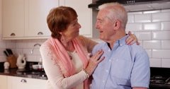 4k, Portrait of an elderly couple at home Stock Footage