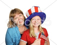 Family Fourth Of July Stock Photos