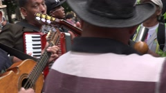 Cuban musicians play on the street in Havana. Stock Footage