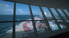 Cruise ship pool deck, onboard view - Serenade of the seas Stock Footage