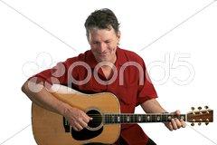 Folk Singer Amused Stock Photos