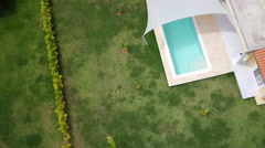 Aerial Cabarete sunny city coast Stock Footage