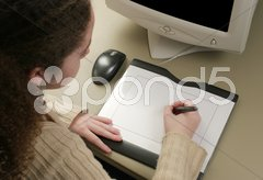 Graphic Artist Tablet Stock Photos