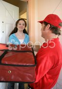 Pizza Home Delivery Stock Photos