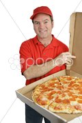 Fresh Pizza Delivered Stock Photos