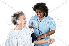 Taking Blood Pressure Stock Photos