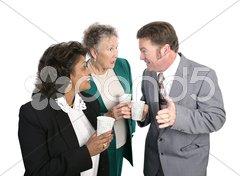 Water Cooler Gossip Stock Photos