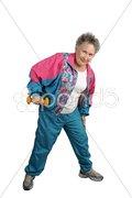 Retiree Keeps Fit Stock Photos