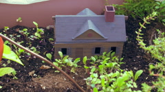 Fairy garden faerie small miniature house Stock Footage