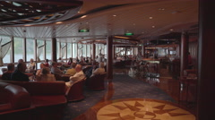Bar on the cruise ship - Serenade of the seas Stock Footage