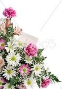 Flower Border Gift Card Stock Photos