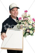 Sign For Flower Delivery Stock Photos