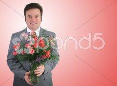 Romantic Husband - Pink Stock Photos
