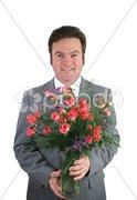 Romantic Husband Isolated Stock Photos