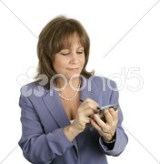 Businesswoman Checking Her PDA Stock Photos