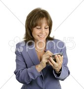 Businesswoman Enjoys PDA Stock Photos