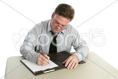 Auditor - Taking Notes Stock Photos