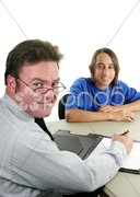 Counselor & Student Vertical Stock Photos