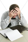 Office Worker - Frustration Stock Photos