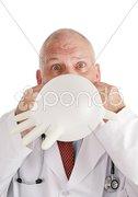 Goofy Doctor Vertical Stock Photos