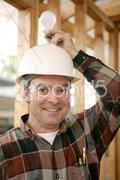 Construction Worker - Bright Idea Stock Photos