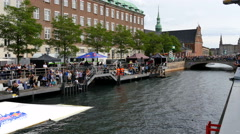 Copenwaken is a public Wakeboard competition Stock Footage