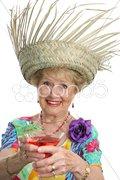 Senior Lady - Cheers Stock Photos