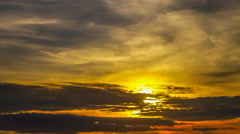 4K Time lapse of sunset sky with clouds Stock Footage