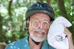 Sweaty Senior Man Stock Photos
