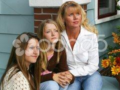 Three Wistful Beauties Stock Photos