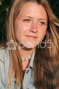 Wistful Beauty Stock Photos