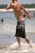Beach Hunk Stock Photos