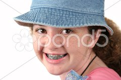 Cute Girl With Braces Stock Photos