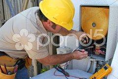 Air Conditioning Repairman 2 Stock Photos