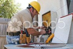 Air Conditioning Repairman 3 Stock Photos