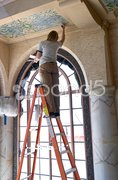 Ceiling Restoration Stock Photos