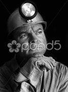 Coal Miner - Portrait BW Stock Photos