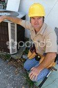 Competent AC Repairman Stock Photos